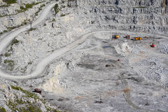 Open pit. Place of extraction of a granite Royalty Free Stock Photo