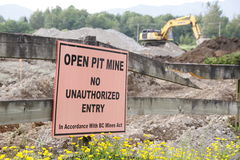 Open Pit Sign Stock Images