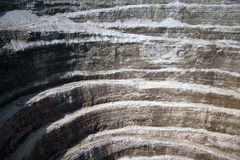 Open pit wall. Closeup of diamond industry Stock Photography