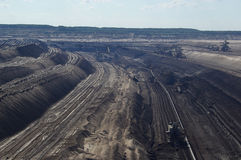 Open pit Welzow 01. Open pit, black coal mine Stock Image