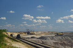 Open pit Welzow 03. Coal mining, open pit Welzow Stock Photography