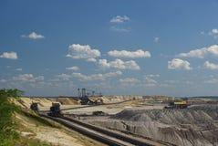 Open pit Welzow 03. Coal mining, open pit Welzow stock photography