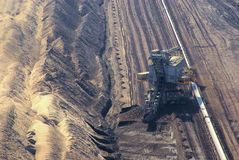 Open pit Welzow. Open pit, coal mine in Europe Stock Photo