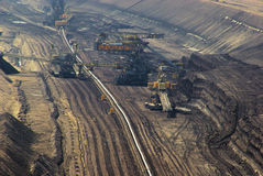 Open pit Welzow. Open pit, big coal mine royalty free stock image