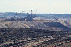 Open pit Welzow. Coal mine stock image
