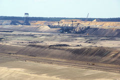 Open pit Welzow. Big open pit , coal mine Royalty Free Stock Photos