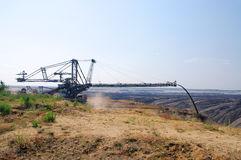Open pit Welzow. Big open pit, coal mine royalty free stock images