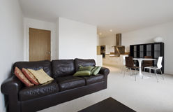 Open plan apartment Stock Photo
