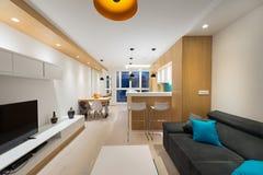 Open plan apartment interior Stock Photos