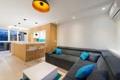 Open plan apartment interior Stock Images