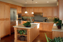 Open plan California kitchen Royalty Free Stock Images