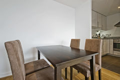 Open plan dining ara stock image