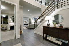 Open plan entryway in new construction home Stock Photos