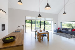 Open plan house Royalty Free Stock Images