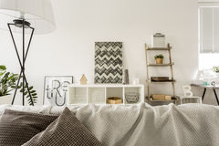 Open plan house with sofa Stock Photo
