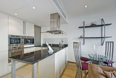 Open plan kitchen royalty free stock image