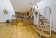 Open plan kitchen Royalty Free Stock Photo