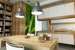Open plan kitchen Stock Images