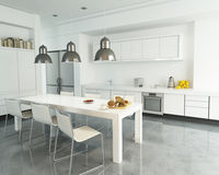Open plan kitchen Stock Photography