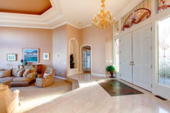 Open plan of luxury bright hallway Stock Photos