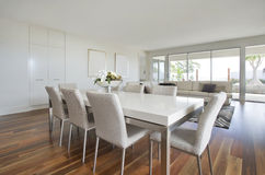 Open Plan Modern Home Royalty Free Stock Photo