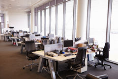 Open plan office interior without people Stock Photos