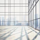 Open planbinnenland met grote vensters Royalty-vrije Stock Afbeeldingen