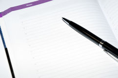 Open planner - Notes Royalty Free Stock Image