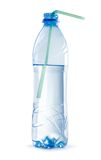 Open plastic bottle of water Stock Image
