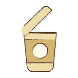 open plastic cup coffee portable sketch Royalty Free Stock Photos