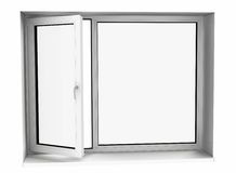 Open plastic glass window Royalty Free Stock Photos