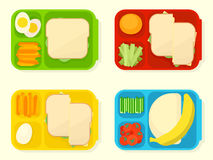 Open plastic school lunch box Royalty Free Stock Photo