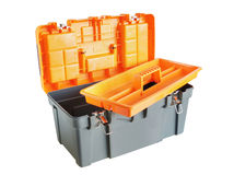 Open plastic tool box Royalty Free Stock Photography