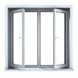 Open plastic venster Royalty-vrije Stock Afbeelding