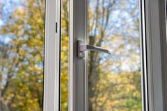 Plastic vinyl window Royalty Free Stock Image