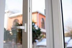 Open plastic vinyl window Stock Photography
