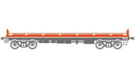 Open platform Railway freight car - Vector Royalty Free Stock Photos