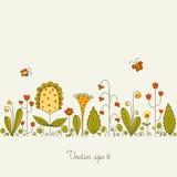 Open plek met bloemen Royalty-vrije Stock Afbeeldingen