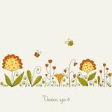 Open plek met gras en bloemen Royalty-vrije Stock Foto