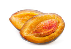 Open plum Royalty Free Stock Images