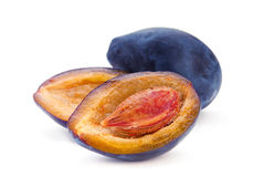Open plum Royalty Free Stock Image