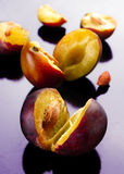Open plum Stock Photo