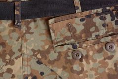 Open pocket on the uniform Royalty Free Stock Photography