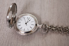 Open pocket watch and chain Stock Image