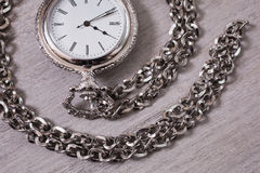 Open pocket watch Stock Photos