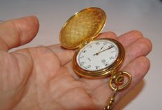Open pocket watch. Royalty Free Stock Photos
