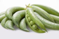 Open pod of peas  . Stock Photos
