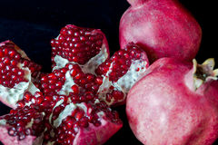 Open pomegranate Stock Photos