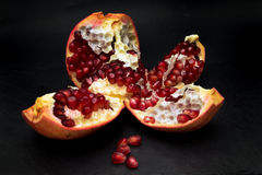 Open pomegranate Stock Photography