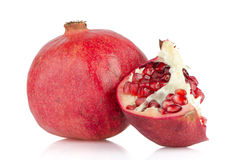 Open pomegranate with seed Royalty Free Stock Image
